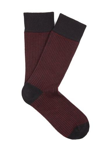 Mavi Uzun Çorap Siyah